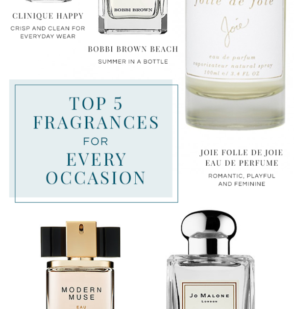 Top 5 Fragrances for Every Occasion - Politics of Pretty
