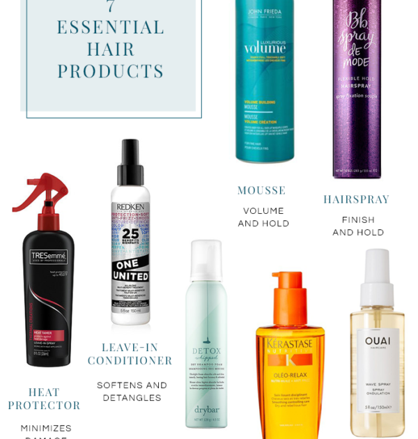 7 hair product essentials