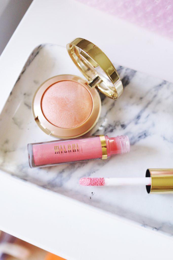 Milani Luminoso Baked Blush and Lip Gloss