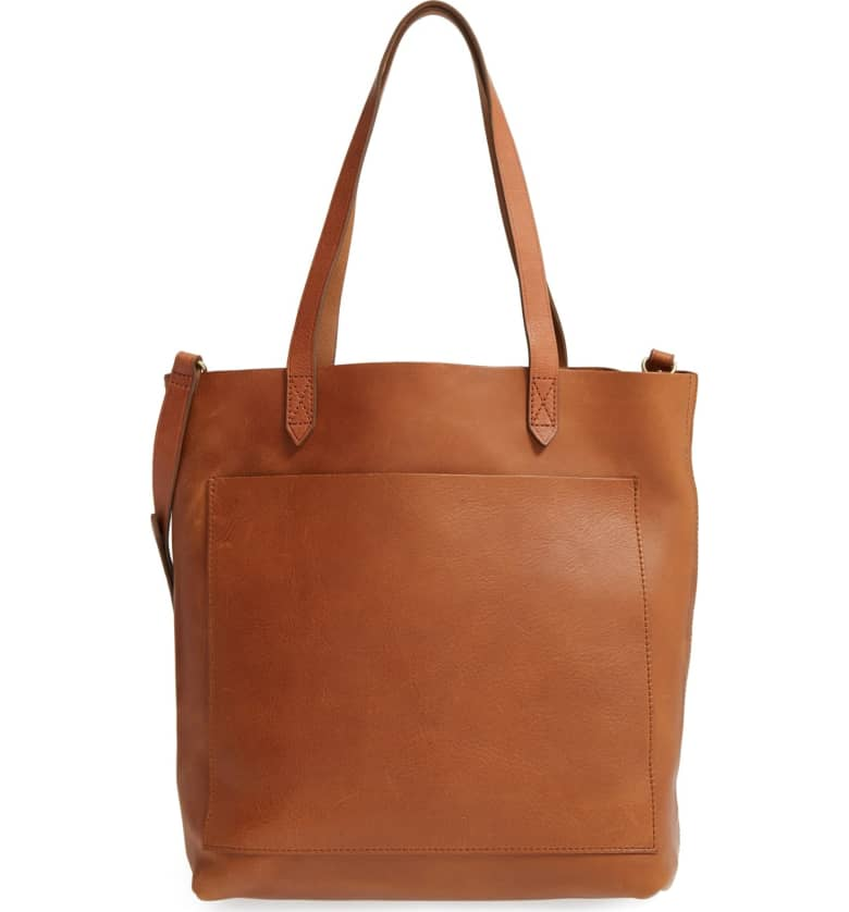 The Best Leather Tote Bags from Madewell, Cuyana and Everlane featured by top DC fashion blogger, The Beauty Minimalist: Madewell Medium Transport Tote
