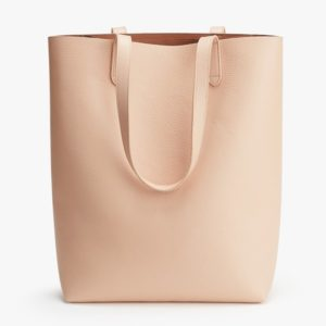 The Best Leather Tote Bags from Madewell, Cuyana and Everlane featured by top DC fashion blogger, The Beauty Minimalist: Cuyana Tall Tote