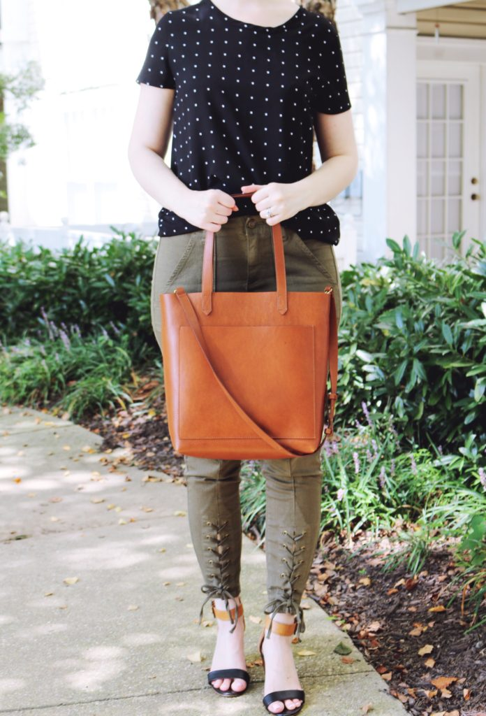 The Best Leather Tote Bags from Madewell, Cuyana and Everlane featured by top DC fashion blogger, The Beauty Minimalist: Madewell Medium Leather Tote Bag Review