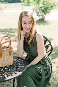 Kara Ferguson, Beauty Blogger, Politics of Pretty wearing Gal Meets Glam dress
