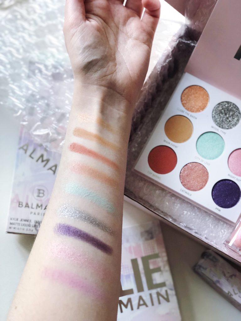 Kylie x Balmain Eyeshadow Swatches