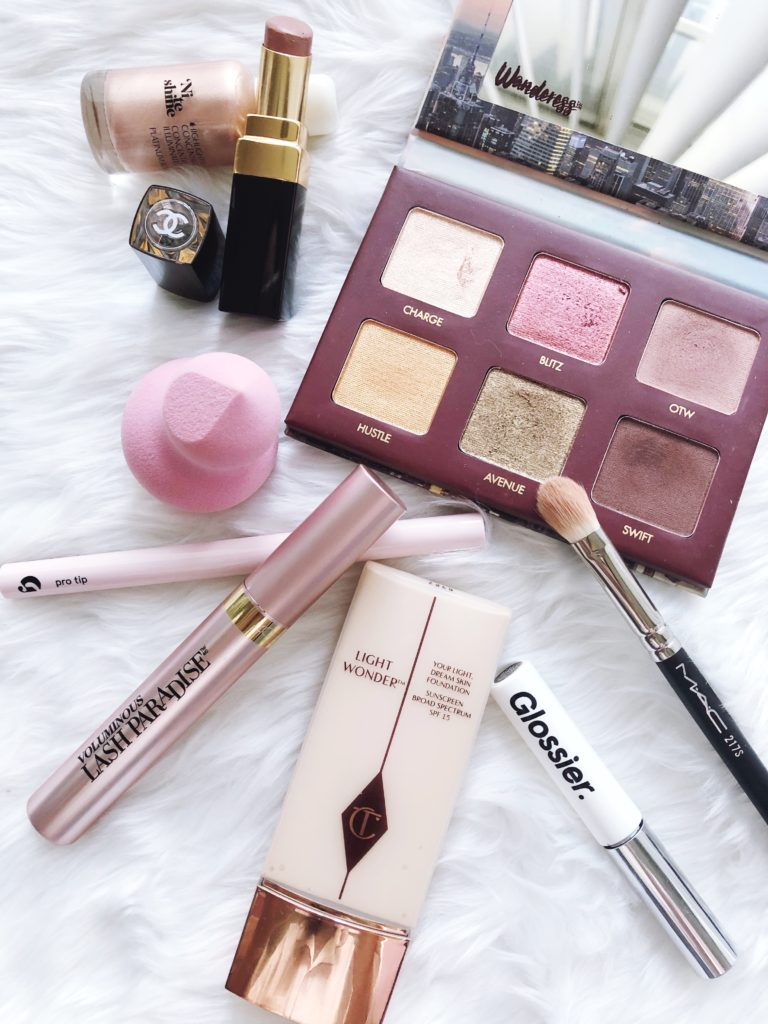 Sharing my favorite winter makeup favorites from Charlotte Tilbury, Wander Beauty, Glossier, and L'Oreal.