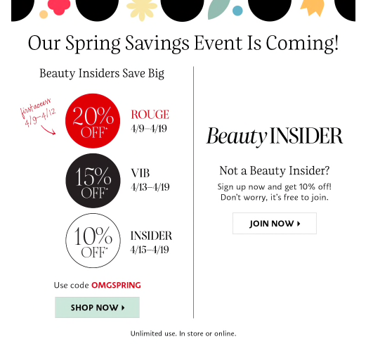 2021 Sephora Spring Sale Discount Codes and Dates