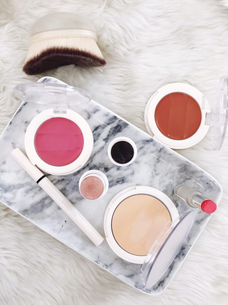 Flat lay of Undone Beauty products