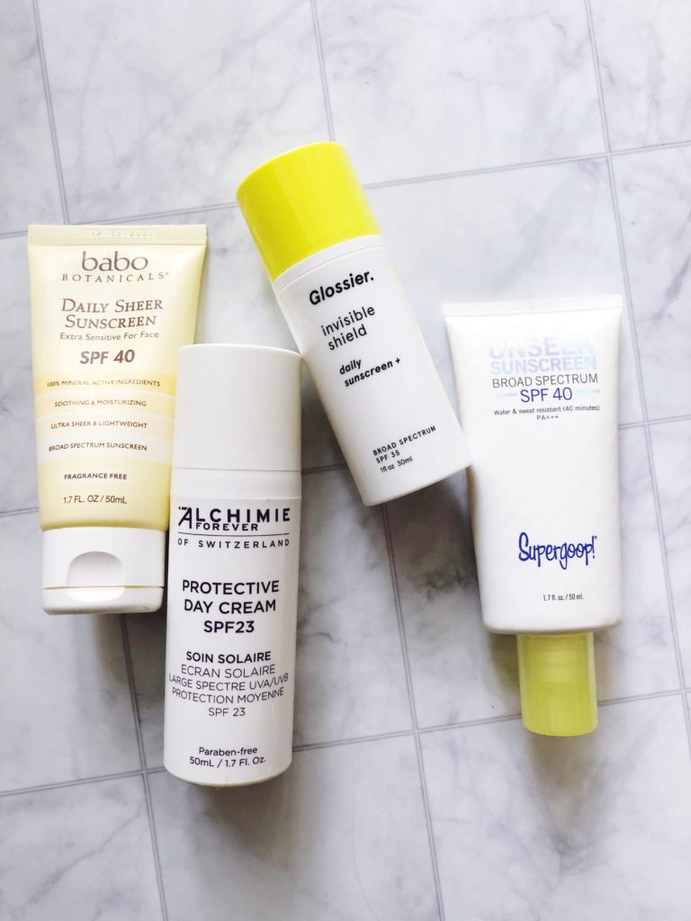 My favorite facial sunscreens for summer