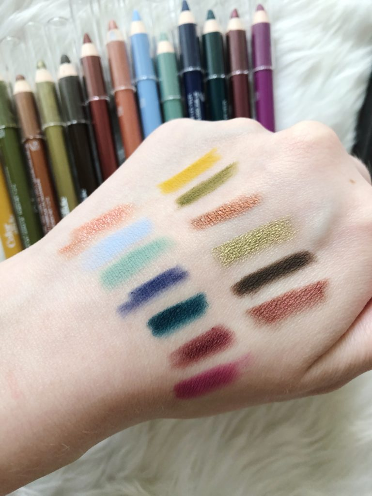 Swatches of Glossier Colorslide