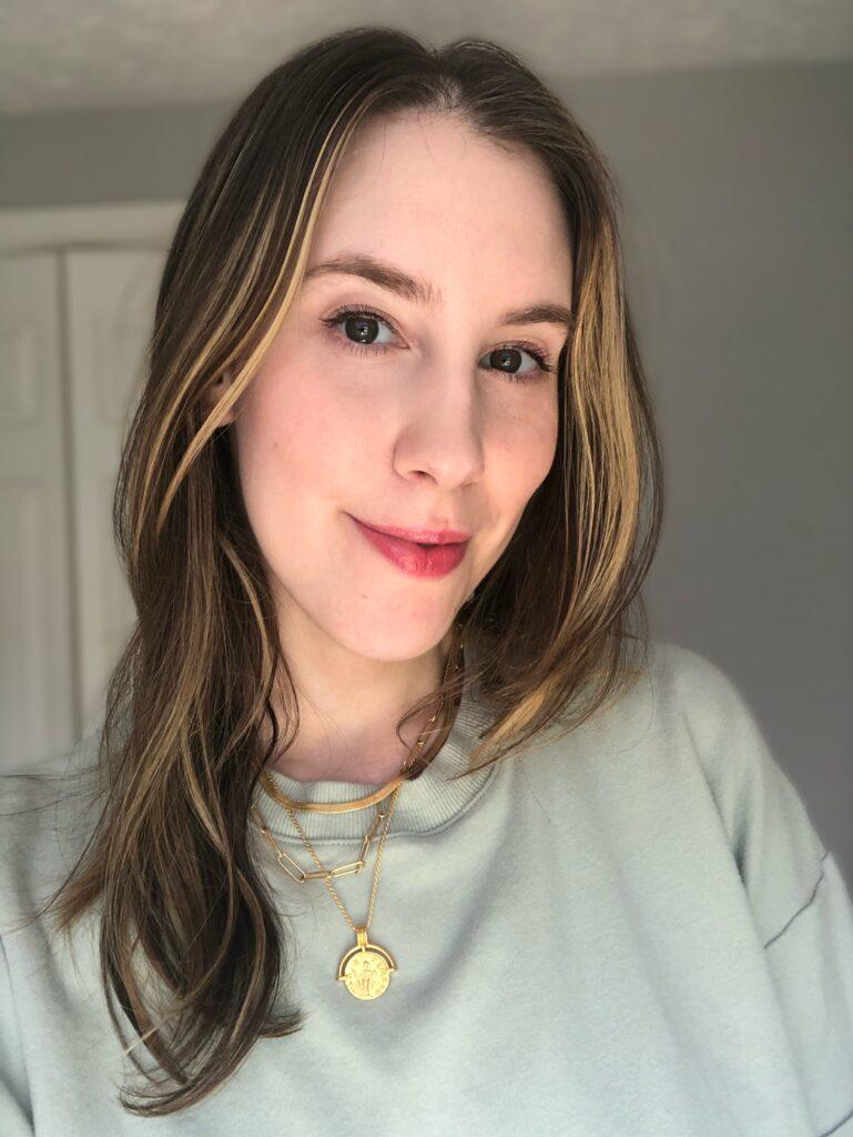 Wearing Glossier Ultralip in Portrait