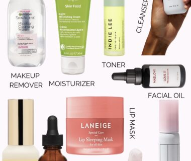 An simple 10-minute nightly skincare routine via The Beauty Minimalist