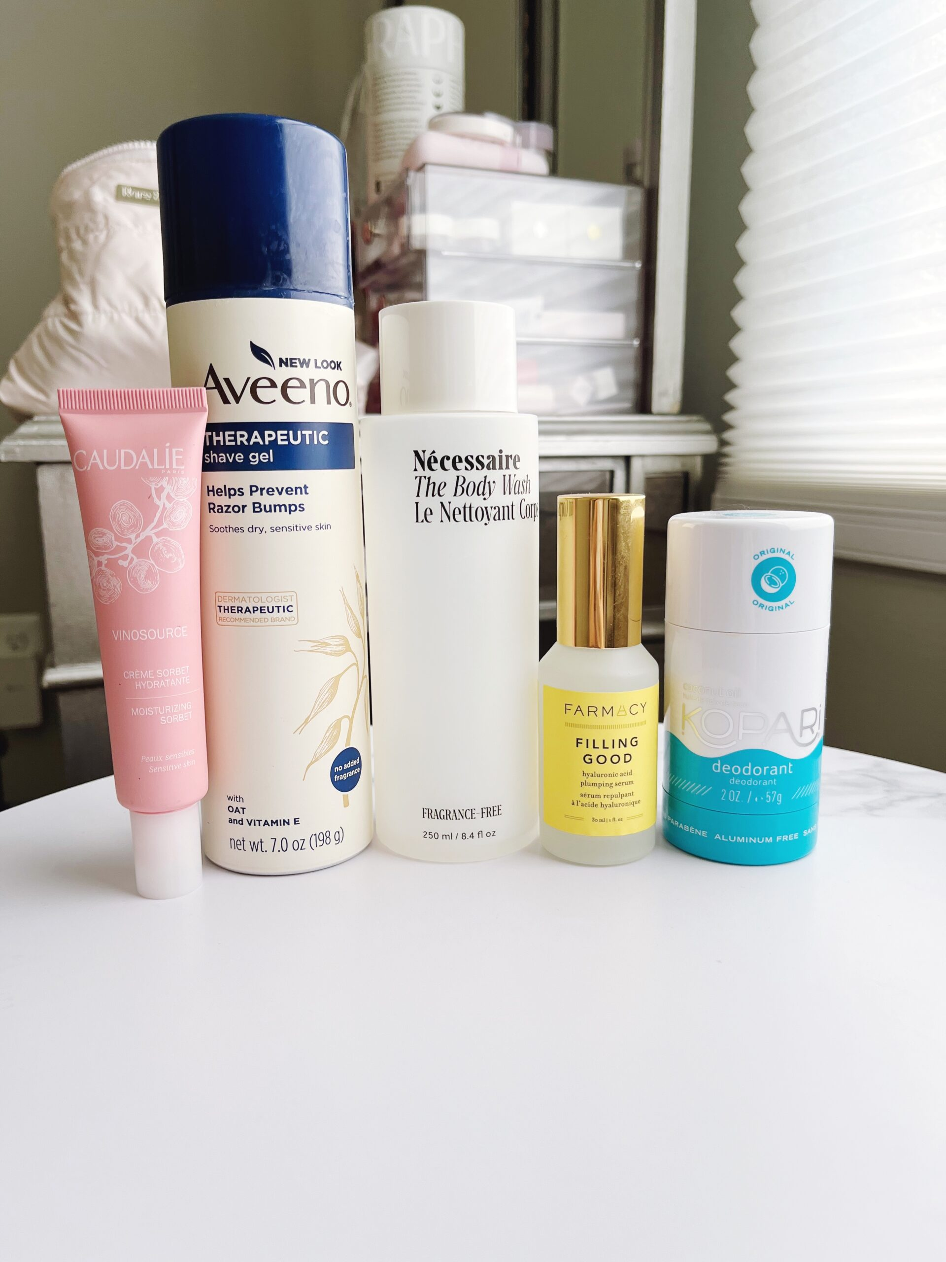 Recent skincare beauty product empties